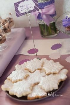 Purple Polar Bear 1st Birthday Party Birthday Party Ideas | Photo 1 of 25