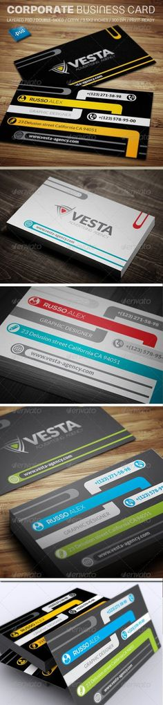 Buy Corporate Business Card by rosfancy on GraphicRiver. Cleaning Business Cards, Cool Business Cards, Corporate Business, Business Branding, Business Card Design, Print Templates, Card Templates, Modern Names, Information Graphics
