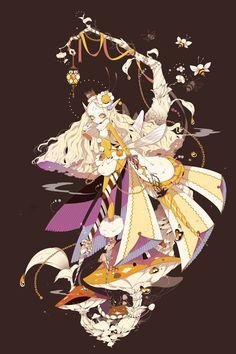 pixiv Fantasia: New World, forehead, pixiv Fantasia bookmarks / 【PFNW】Humming Thumbelina【ハイロンド】 - pixiv