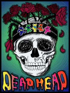 Grateful Dead Poster Art Print by JRyann Studio Grateful Dead Tattoo, Grateful Dead Image, Grateful Dead Poster, Grateful Dead Shirts, Grateful Dead Skull, Band Posters, Music Posters, Retro Posters, Grateful Dead Wallpaper