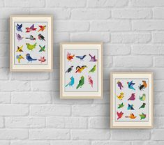 SET 33 Birds Cross stitch pattern Instant Download by LolitaMade