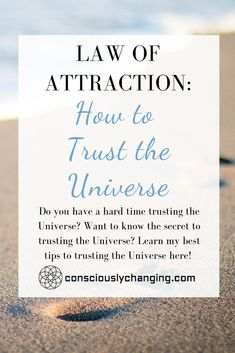 Did you know that trusting the Universe is the key to manifesting through the Law of Attraction? If you have a hard time trusting the Universe, learn my ultimate ways of how to trust the Universe here! Manifestation Journal, Manifestation Law Of Attraction, Law Of Attraction Affirmations, Law Of Attraction Love, Abraham Hicks Quotes, Manifesting Money, Money Affirmations, How To Manifest, Subconscious Mind