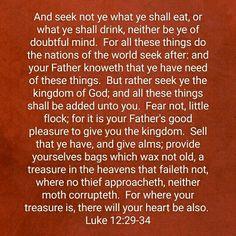 Luke 12:29-34