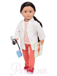 Our Generation Professional Dolls Doctor Nicola. New for 2017 and a great addition to the range is Our Generation doll Nicola who is a doctor and arrives with accessories for her profession. Poupées Our Generation, Doctor Coat, Girl Hair Colors, Plastic Doll, Doll Eyes, Perfect Gift For Her, Colored Pants, Hazel Eyes, Child Love