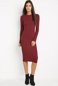 Midi Bodycon Sweater Dress | Forever 21 - 2000142629