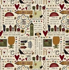 Gruber's Quilt Shop - Bless This Home Panel by Emily McGlothlen ... : red hen quilt shop - Adamdwight.com