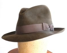 833ba40ba3f Mens Fedora Hat 1930s Mens Hat 1940s Mens Hat 1950s Mens Hat Fall Fashion  Men s Accessories Men s Dress Hat Spring Fashion Brown Hat