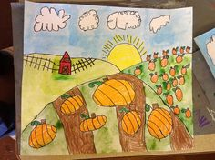 Grant wood project to teach foreground middleground and background