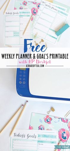 Free Printable Weekly Planner & Goal's Worksheet