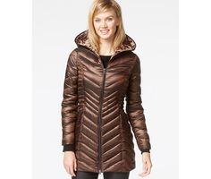 Laundry by Shelli Segal Hooded Down Packable Puffer Coat - Coats - Women - Macy's