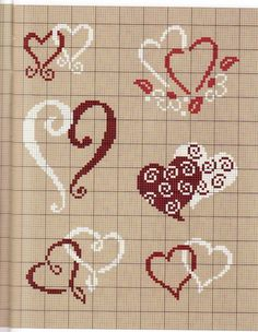 Cross stitch *<3* Heart chart