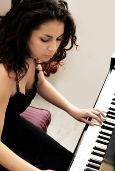 Image detail for -Young Girl Improvising a Song on the Piano