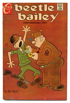 edibleinkphot… Comic Books Beetle Bailey…so silly,but for a seven-year-o… www.edibleinkphot… Comic Books Beetle Bailey…so silly,but for a seven-year-old the very height of humor. Old Comic Books, Vintage Comic Books, Comic Book Covers, Vintage Cartoons, Vintage Comics, 1970s Cartoons, Famous Cartoons, Retro Vintage, Classic Comics