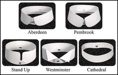 The halcyon days of stiff collars. These puppies were starched like concrete. The 'Stand Up' is particularly upstanding.