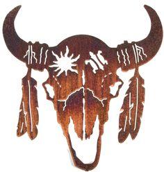 Buffalo Skull Silhouette Life skull by neil rose . Skull Wall Art, Metal Wall Art Decor, Hanging Wall Art, Metal Art, Wall Hangings, Native Art, Native American Art, American Bison, Crane