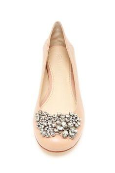 Vera Wang Embellished Ballet Flat.