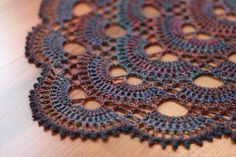 "Beautiful Desert-Inspired Crochet Yarn Dharma calls this: ""my orchid of the painted desert"""