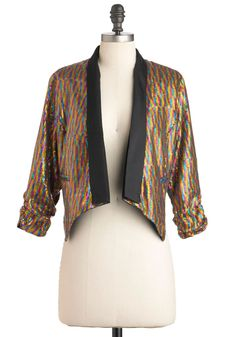 Bright This Way Jacket - Multi, Sequins, Party, 3/4 Sleeve, Short, 1, 80s, Statement, Girls Night Out, Glitter, Cocktail, Holiday Party
