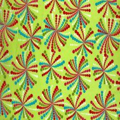 Tissu Enfant – Feu D'Artifice Vert Lime