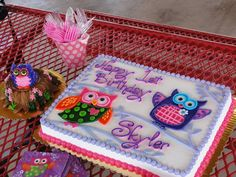 Owl cake and smash cake