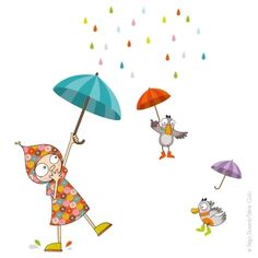 Sticker dansons sous la pluie