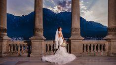 Fiecare fata viseaza de cand e mica sa isi faca nunta la castel, iar Flori a reusit sa isi indeplineasca acest vis. Castelul Cantacuzino din Busteni este o locatie magnifica pentru cuplurile ce vor sa isi uneasca destinele. Aceasta locatie de nunta pune la dispozitie, pe langa castelul in sine, o priveliste extraordinara ce creeaza cadrul de poveste. Wedding Dress Wedding Bouquet Castle Wedding Cabo, Flora, Candles, Photography, Fotografia, Photograph, Fotografie, Plants, Candy