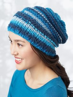 Bargello Hat | Yarn | Free Knitting Patterns | Crochet Patterns | Yarnspirations