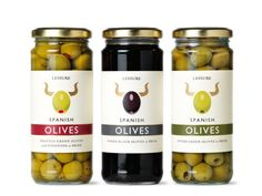 Spanish Olives packaging design by London based design agency Mayday living brands Packaging Snack, Food Packaging Design, Packaging Design Inspiration, Spices Packaging, Design Ideas, Bottle Packaging, Spanish Olives, Jar Labels, Bottle Labels
