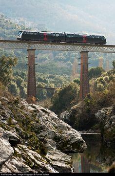 Chemin de Fer Corse AMG 800 at Chioselli Corsica, France by Tomas Votava  #train