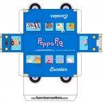 Lindo ônibus da Peppa Pig e seus amigos para você recortar, imprimir e montar. Você pode usar na decoração de sua festa com o Tema Peppa Pig