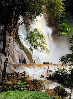 Kuang Si Waterfalls ~  Laos