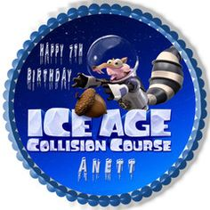 Ice Age 5 B Collision Course Edible Cake Topper & Cupcake Toppers – Edible Prints On Cake (EPoC)