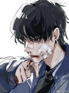 Anime Kunst, Anime Art, Pretty Art, Cute Art, Aesthetic Art, Aesthetic Anime, Anime Boy Zeichnung, Photographie Portrait Inspiration, Dark Anime Guys