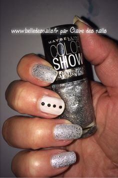 #nailart crystal grey #nail #nails #manicure #glitter - Belle des nails by Claire des nails