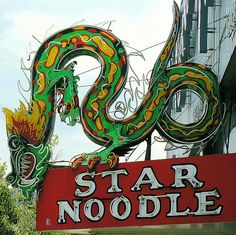 Star Noodle Restaurant - vintage neon sign, Ogden, UT - I remember going here with my grandma. Old Neon Signs, Vintage Neon Signs, Old Signs, Advertising Signs, Vintage Advertisements, Retro Signage, Roadside Attractions, Roadside Signs, Year Of The Dragon