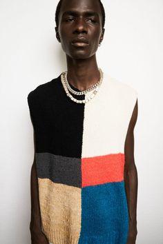 Fashion News, Fashion Beauty, Mens Fashion, High Fashion, Jil Sander, David Sims, Fashion Show Collection, Lace Knitting, Knitting Ideas
