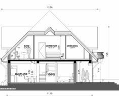 Proiect-casa-cu-Mansarda-18011 2 Home Building Design, Building A House, Good House, My House, Bungalow Style House, House Design Pictures, Facade House, Design Case, House Plans