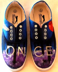 Purple Smoke Once Upon A Time Shoes by AllHeartAndSole on Etsy