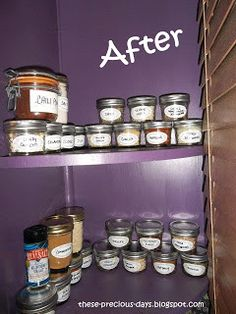 7 Creative Spice Storage Ideas. You should get a load of the BEFORE picture! Hilarious!