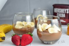 Do you like the taste of bananas and chocolate? If so, you will get to love this healthy chocolate banana pudding recipe full of fiber, vitamins and minerals for sure! Chocolate Banana Pudding, Banana Pudding Recipes, Stevia, Brownies Sains, Diabetic Friendly Desserts, Clean Recipes, Healthy Recipes, Desserts Sains, Healthy Cake