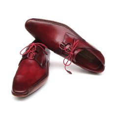 Paul Parkman Men's Ghillie Lacing Side Handsewn Dress Shoes - Burgundy  (ID#022-BUR) by Paul Parkman Handmade Shoes- Men - Shoes - Oxfords Pure Aiyza Shoe Passion LINK- https://aiyza.com/collections/paul-parkman-mens-ghillie-lacing-side-handsewn-dress-shoes-burgundy-id-022-bur Burgundy hand-painted leather upper     Antiqued natural leather sole     Handsewn side detail on welt     Leather wrapped laces     Bordeaux lining and inner sole  This is a made-to-order product. Please allow 15 days…