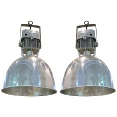 Pair Of Lanterns - Light Fixtures France French Industrial Aluminum Hallway Light Fixtures, Industrial Light Fixtures, Hallway Lighting, Kitchen Lighting Fixtures, Industrial Lighting, Bright Hallway, Rose Gold Lamp, Modern Lanterns, Large Round Mirror
