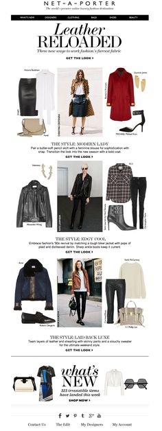 #newsletter Net a porter 09.2013 Subject: Trend update: how to wear leather now