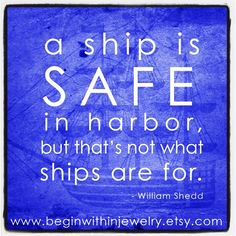 """Quit making """"safe"""" decisions, and follow your HEART.  #inspiration #quotes"""