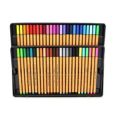 Stabilo Point, Stabilo Boss, College School Supplies, Cute School Supplies, Stationery Craft, School Stationery, Cool Pencil Cases, Stationary Store, Fineliner Pens