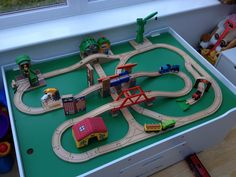 This wooden train set will drive you round the bend, literally. Amazingly managed to include plenty of bridges, twists and turns, and a few Brio buildings and stations in there too.
