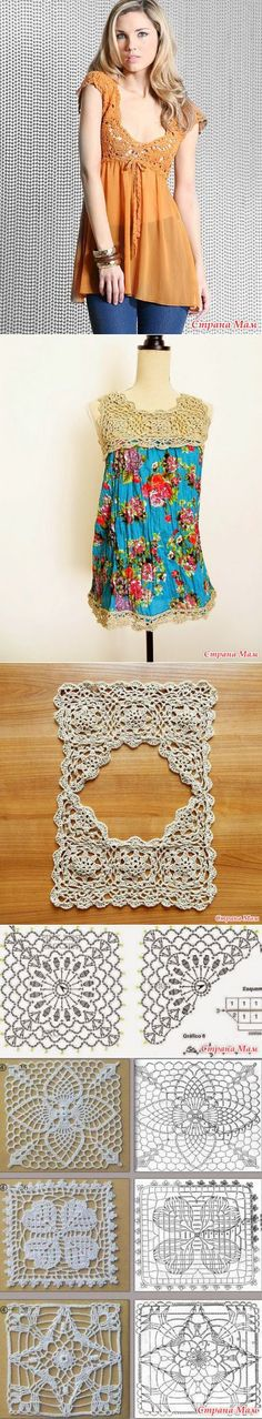 Hook + fabric.  Ideas for inspiration.  Part №1 - all in openwork ... (crochet) - Home Moms