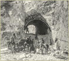 Tunneldurchstich durch das K&K Militär in den Karnischen Alpen