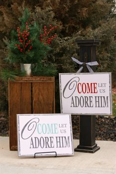Trendy Christmas Signs