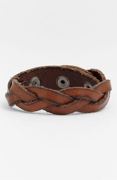 Valentine gift ideas for the boyfriend / Will Leather Goods 'District' Bracelet | Nordstrom